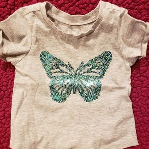 Children's place sparkly butterfly shirt